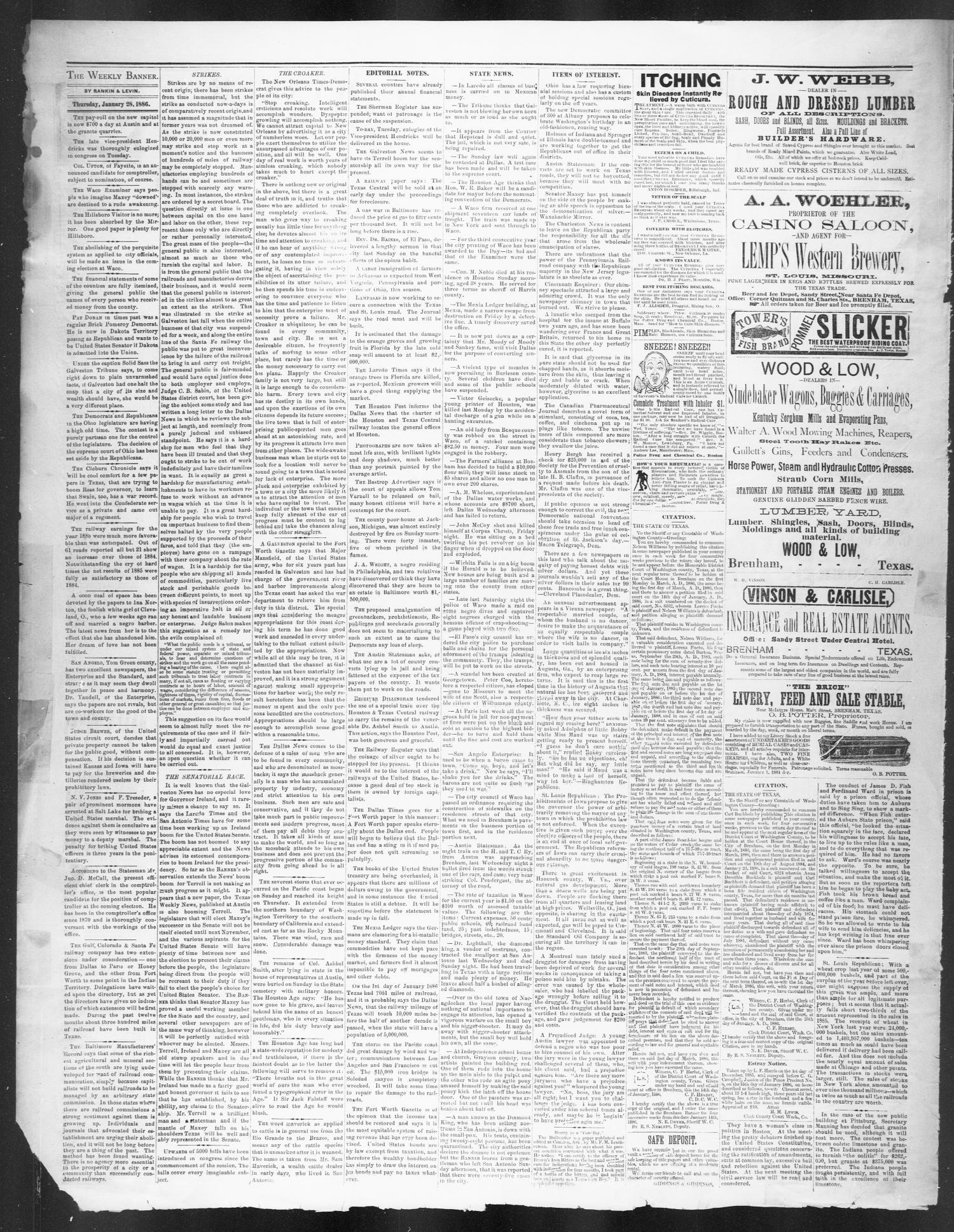 Brenham Weekly Banner  (Brenham, Tex ), Vol  21, No  4, Ed