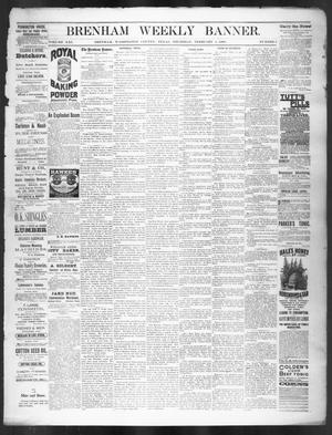 Primary view of object titled 'Brenham Weekly Banner. (Brenham, Tex.), Vol. 21, No. 5, Ed. 1, Thursday, February 4, 1886'.