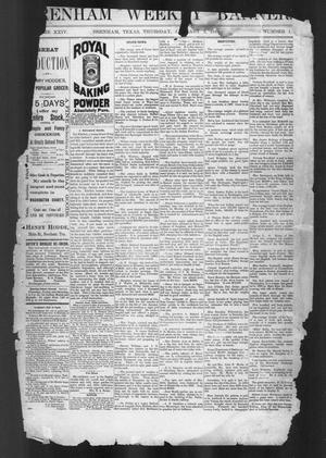 Primary view of object titled 'Brenham Weekly Banner. (Brenham, Tex.), Vol. 24, No. 1, Ed. 1, Tuesday, January 3, 1888'.