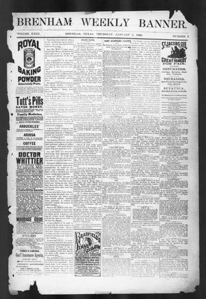 Primary view of object titled 'Brenham Weekly Banner. (Brenham, Tex.), Vol. 23, No. 1, Ed. 1, Thursday, January 5, 1888'.