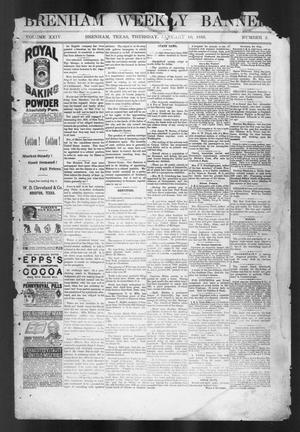 Primary view of object titled 'Brenham Weekly Banner. (Brenham, Tex.), Vol. 24, No. 2, Ed. 1, Tuesday, January 10, 1888'.