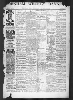 Primary view of object titled 'Brenham Weekly Banner. (Brenham, Tex.), Vol. 23, No. 3, Ed. 1, Thursday, January 19, 1888'.