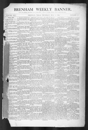 Primary view of object titled 'Brenham Weekly Banner. (Brenham, Tex.), Vol. 25, No. 19, Ed. 1, Thursday, May 8, 1890'.