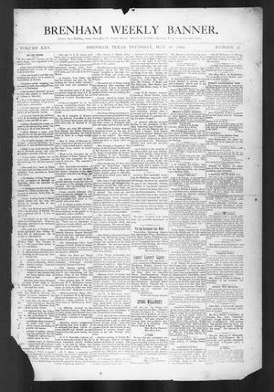 Primary view of object titled 'Brenham Weekly Banner. (Brenham, Tex.), Vol. 25, No. 22, Ed. 1, Thursday, May 29, 1890'.