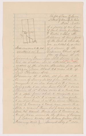 Primary view of [Land Survey Field Notes in Bexar County, Number 340]