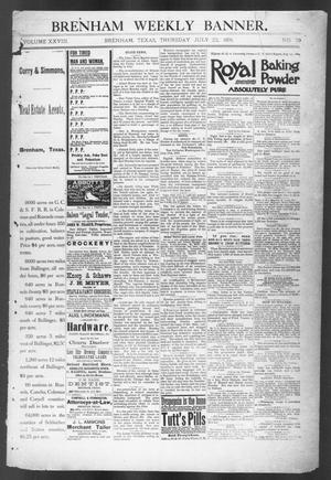Primary view of object titled 'Brenham Weekly Banner. (Brenham, Tex.), Vol. 26, No. 29, Ed. 1, Thursday, July 23, 1891'.
