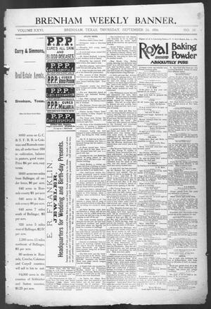 Primary view of Brenham Weekly Banner. (Brenham, Tex.), Vol. 26, No. 38, Ed. 1, Thursday, September 24, 1891