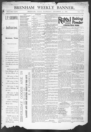 Primary view of object titled 'Brenham Weekly Banner. (Brenham, Tex.), Vol. 26, No. 52, Ed. 1, Thursday, December 31, 1891'.