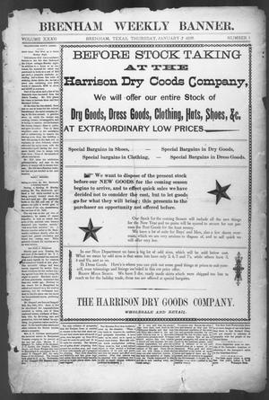Primary view of object titled 'Brenham Weekly Banner. (Brenham, Tex.), Vol. 32, No. 1, Ed. 1, Thursday, January 7, 1897'.