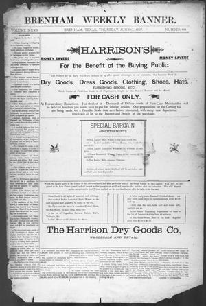 Primary view of object titled 'Brenham Weekly Banner. (Brenham, Tex.), Vol. 32, No. 101, Ed. 1, Thursday, June 17, 1897'.