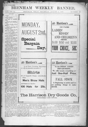 Primary view of object titled 'Brenham Weekly Banner. (Brenham, Tex.), Vol. 31, No. 35, Ed. 1, Thursday, August 5, 1897'.