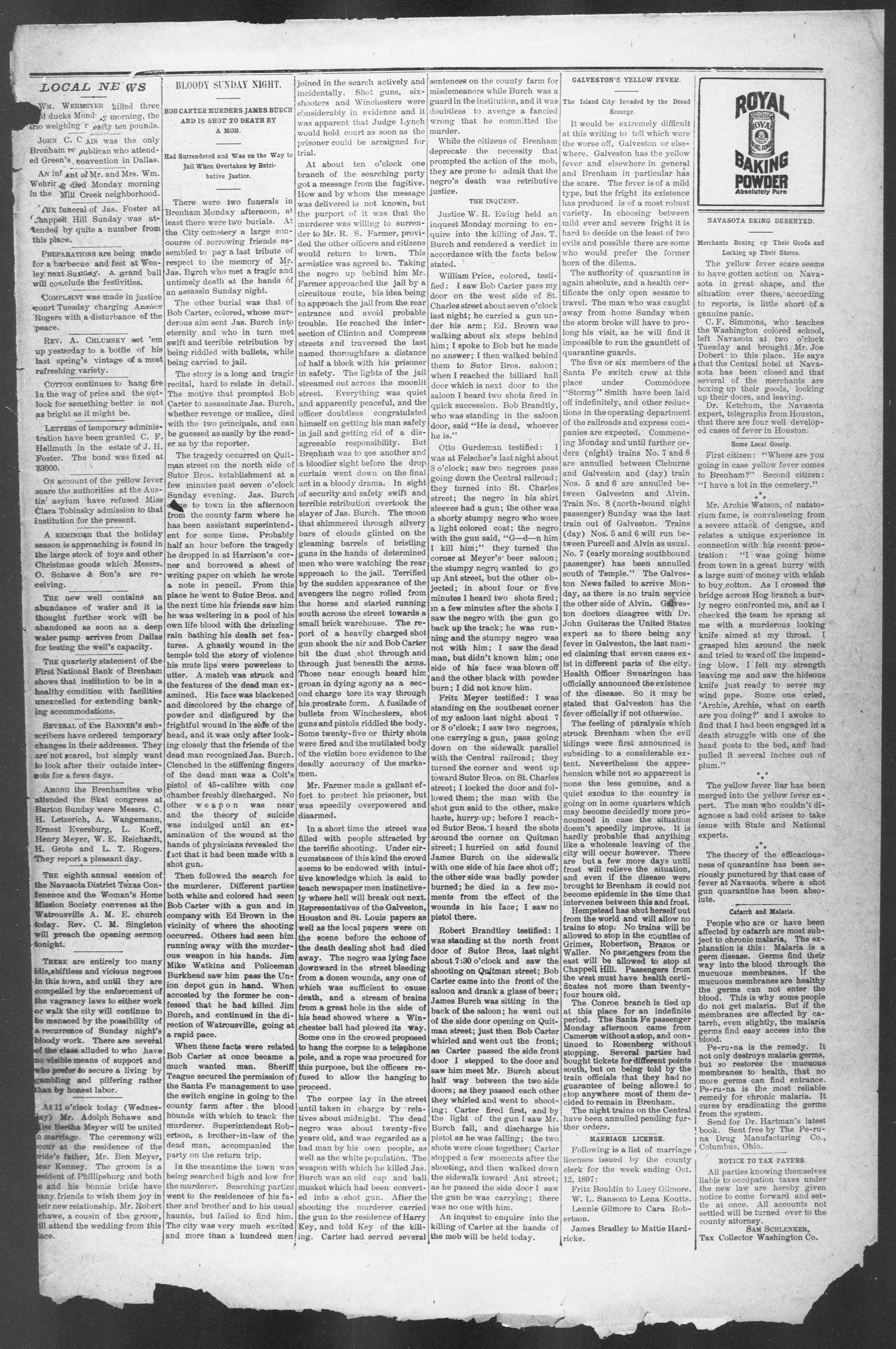 Brenham Weekly Banner. (Brenham, Tex.), Vol. 31, No. 45, Ed. 1, Thursday, October 14, 1897                                                                                                      [Sequence #]: 7 of 10
