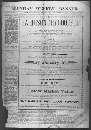 Primary view of object titled 'Brenham Weekly Banner. (Brenham, Tex.), Vol. 31, No. 57, Ed. 1, Thursday, December 16, 1897'.