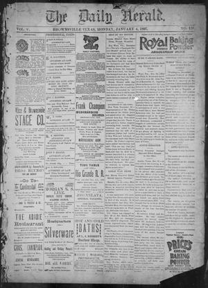 Primary view of object titled 'The Daily Herald (Brownsville, Tex.), Vol. 5, No. 158, Ed. 1, Monday, January 4, 1897'.