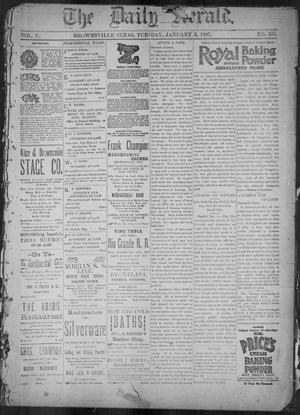 Primary view of object titled 'The Daily Herald (Brownsville, Tex.), Vol. 5, No. 159, Ed. 1, Tuesday, January 5, 1897'.