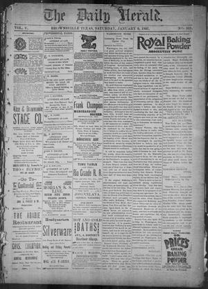 Primary view of object titled 'The Daily Herald (Brownsville, Tex.), Vol. 5, No. 163, Ed. 1, Saturday, January 9, 1897'.