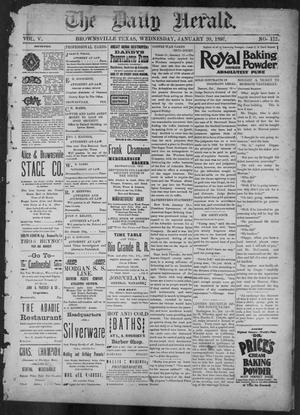 Primary view of object titled 'The Daily Herald (Brownsville, Tex.), Vol. 5, No. 172, Ed. 1, Wednesday, January 20, 1897'.
