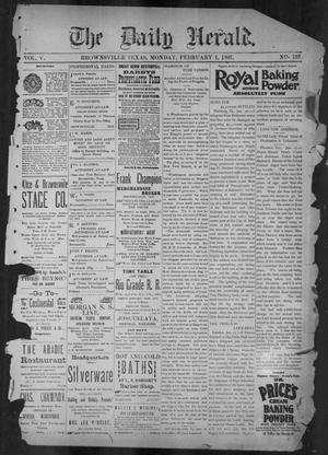 The Daily Herald (Brownsville, Tex.), Vol. 5, No. 182, Ed. 1, Monday, February 1, 1897