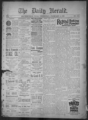 The Daily Herald (Brownsville, Tex.), Vol. 5, No. 184, Ed. 1, Wednesday, February 3, 1897