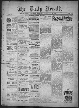 Primary view of object titled 'The Daily Herald (Brownsville, Tex.), Vol. 5, No. 188, Ed. 1, Monday, February 8, 1897'.
