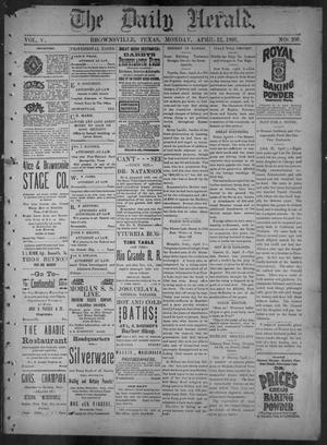Primary view of object titled 'The Daily Herald (Brownsville, Tex.), Vol. 5, No. 206, Ed. 1, Monday, April 12, 1897'.