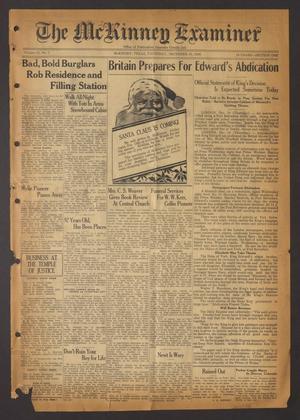 The McKinney Examiner (McKinney, Tex.), Vol. 51, No. 7, Ed. 1 Thursday, December 10, 1936