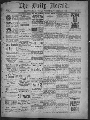 Primary view of object titled 'The Daily Herald (Brownsville, Tex.), Vol. 5, No. 214, Ed. 1, Wednesday, April 21, 1897'.