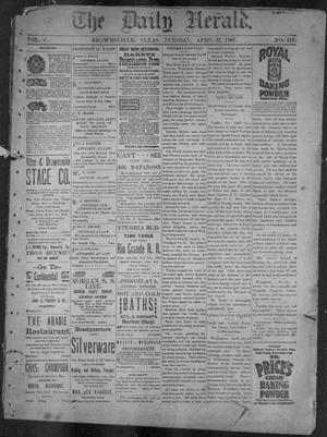 Primary view of object titled 'The Daily Herald (Brownsville, Tex.), Vol. 5, No. 219, Ed. 1, Tuesday, April 27, 1897'.