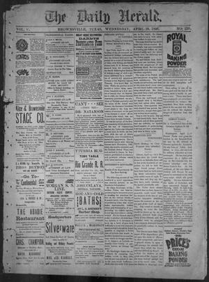 Primary view of object titled 'The Daily Herald (Brownsville, Tex.), Vol. 5, No. 220, Ed. 1, Wednesday, April 28, 1897'.