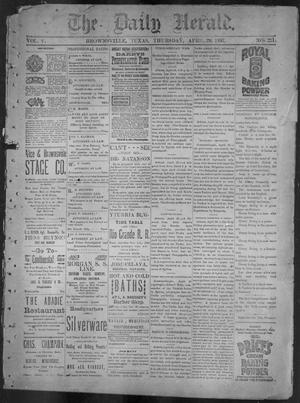 Primary view of object titled 'The Daily Herald (Brownsville, Tex.), Vol. 5, No. 221, Ed. 1, Thursday, April 29, 1897'.