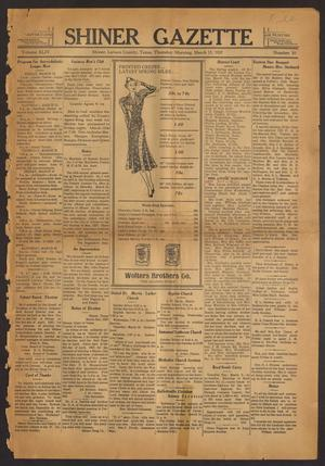 Primary view of object titled 'Shiner Gazette (Shiner, Tex.), Vol. 44, No. 10, Ed. 1 Thursday, March 11, 1937'.