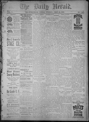 Primary view of object titled 'The Daily Herald (Brownsville, Tex.), Vol. 5, No. 246, Ed. 1, Friday, May 28, 1897'.