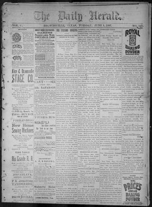 Primary view of object titled 'The Daily Herald (Brownsville, Tex.), Vol. 5, No. 249, Ed. 1, Tuesday, June 1, 1897'.