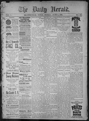 Primary view of object titled 'The Daily Herald (Brownsville, Tex.), Vol. 5, No. 252, Ed. 1, Friday, June 4, 1897'.