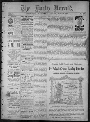 Primary view of object titled 'The Daily Herald (Brownsville, Tex.), Vol. 5, No. 253, Ed. 1, Saturday, June 5, 1897'.
