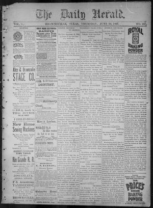 Primary view of The Daily Herald (Brownsville, Tex.), Vol. 5, No. 257, Ed. 1, Thursday, June 10, 1897