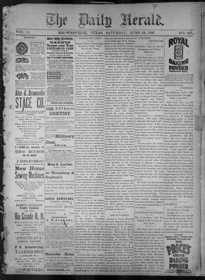 Primary view of object titled 'The Daily Herald (Brownsville, Tex.), Vol. 5, No. 265, Ed. 1, Saturday, June 19, 1897'.