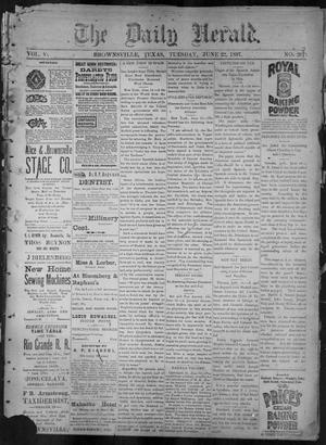 The Daily Herald (Brownsville, Tex.), Vol. 5, No. 267, Ed. 1, Tuesday, June 22, 1897