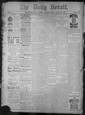 Primary view of object titled 'The Daily Herald (Brownsville, Tex.), Vol. 5, No. 268, Ed. 1, Wednesday, June 23, 1897'.
