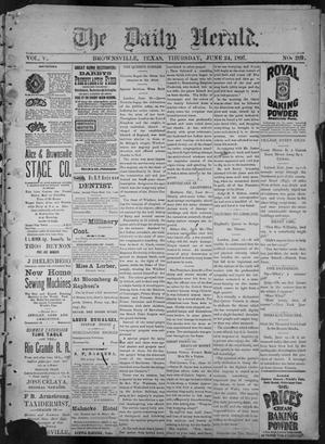 Primary view of object titled 'The Daily Herald (Brownsville, Tex.), Vol. 5, No. 269, Ed. 1, Thursday, June 24, 1897'.