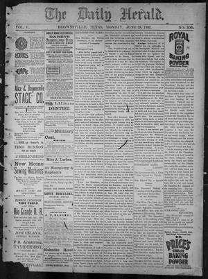 Primary view of object titled 'The Daily Herald (Brownsville, Tex.), Vol. 5, No. 306, Ed. 1, Monday, June 28, 1897'.