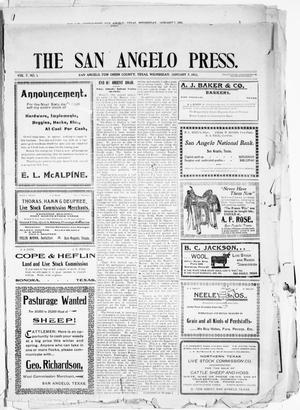 Primary view of object titled 'The San Angelo Press. (San Angelo, Tex.), Vol. 7, No. 1, Ed. 1, Wednesday, January 7, 1903'.