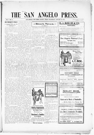 Primary view of object titled 'The San Angelo Press. (San Angelo, Tex.), Vol. 7, No. 4, Ed. 1, Wednesday, January 28, 1903'.