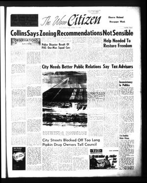 Primary view of object titled 'The Waco Citizen (Waco, Tex.), Vol. [27], No. 7, Ed. 1 Friday, October 14, 1960'.