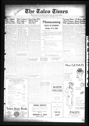 Primary view of The Talco Times (Talco, Tex.), Vol. 11, No. 31, Ed. 1 Friday, September 13, 1946