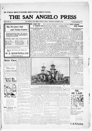 Primary view of object titled 'The San Angelo Press. (San Angelo, Tex.), Vol. 10, No. 49, Ed. 1, Thursday, December 6, 1906'.