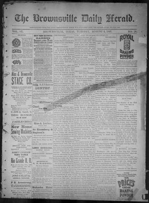 Primary view of object titled 'The Brownsville Daily Herald. (Brownsville, Tex.), Vol. 6, No. 26, Ed. 1, Tuesday, August 3, 1897'.