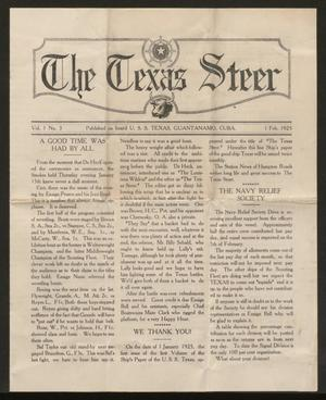 Primary view of object titled 'The Texas Steer (U. S. S. Texas), Vol. 1, No. 3, Ed. 1 Sunday, February 1, 1925'.