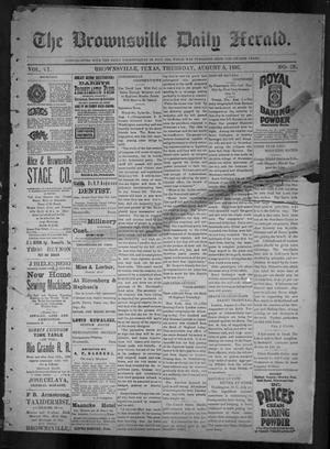 Primary view of object titled 'The Brownsville Daily Herald. (Brownsville, Tex.), Vol. 6, No. 28, Ed. 1, Thursday, August 5, 1897'.