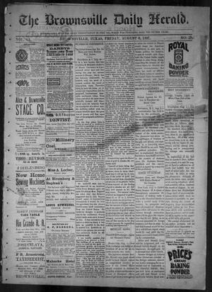 Primary view of object titled 'The Brownsville Daily Herald. (Brownsville, Tex.), Vol. 6, No. 29, Ed. 1, Friday, August 6, 1897'.